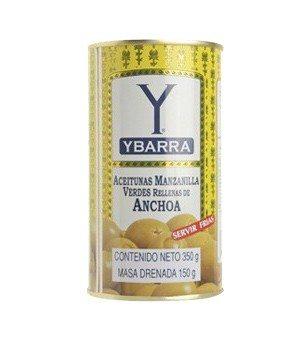 Aceitunas verdes rellena de anchoa